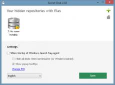 Скриншот 2 из 3 программы Secret Disk