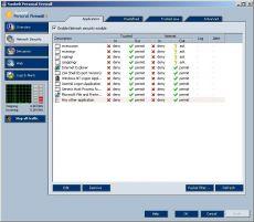 Скриншот 1 из 1 программы Sunbelt Kerio Personal Firewall