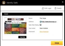 Скриншот 1 из 3 программы Norton Identity Safe