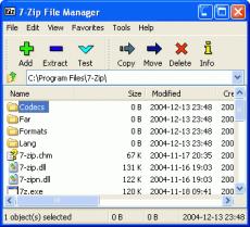 Скриншот 1 из 2 программы 7-Zip