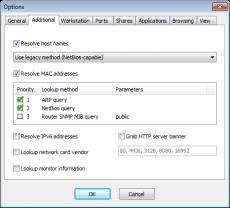 Скриншот 2 из 4 программы SoftPerfect Network Scanner