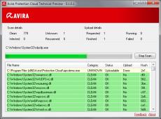 Скриншот 1 из 1 программы Avira Protection Cloud