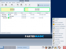 Скриншот 2 из 3 программы Parted Magic