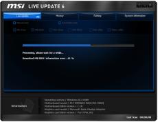 Скриншот 2 из 4 программы MSI LiveUpdate