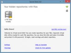 Скриншот 3 из 3 программы Secret Disk