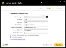 Скриншот 2 из 3 программы Norton Identity Safe