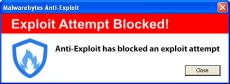 Скриншот 1 из 3 программы Malwarebytes Anti-Exploit