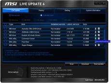 Скриншот 3 из 4 программы MSI LiveUpdate