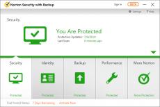 Скриншот 1 из 2 программы Norton Security