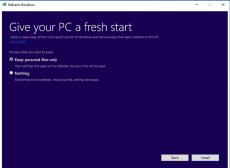 Скриншот 1 из 1 программы Refresh Windows Tool