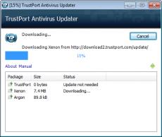 Скриншот 1 из 4 программы TrustPort Antivirus