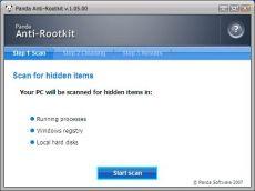 Скриншот 1 из 1 программы Panda Anti-Rootkit