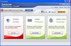 Скриншот 1 из 2 программы ZoneAlarm Free Antivirus + Firewall