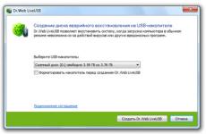 Скриншот 1 из 1 программы Dr.Web LiveUSB