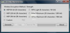 Скриншот 1 из 1 программы Wireless Key Generator