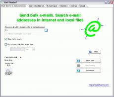 Скриншот 1 из 1 программы Mail Hunter