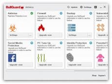 Скриншот 1 из 1 программы BullGuard Antivirus