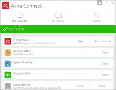 Скриншот 1 из 1 программы Avira Free Security Suite