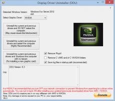 Скриншот 1 из 1 программы Display Driver Uninstaller