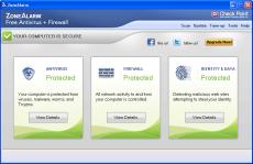Скриншот 2 из 2 программы ZoneAlarm Free Antivirus + Firewall