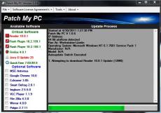 Скриншот 1 из 2 программы Patch My PC