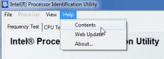 Скриншот 1 из 2 программы Intel Processor Identification Utility