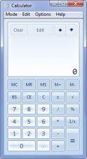 Скриншот 1 из 1 программы Windows 7 Calculator