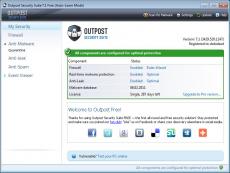 Скриншот 1 из 1 программы Outpost Security Suite