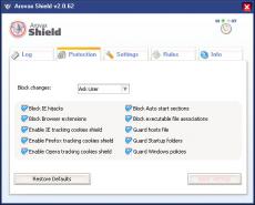 Скриншот 1 из 1 программы Arovax Shield