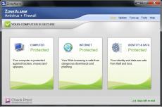 Скриншот 1 из 2 программы ZoneAlarm Pro Antivirus + Firewall