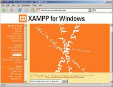 Скриншот 1 из 1 программы XAMPP for Windows