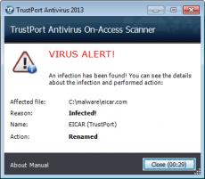 Скриншот 4 из 4 программы TrustPort Antivirus
