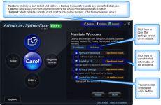 Скриншот 1 из 1 программы Advanced SystemCare