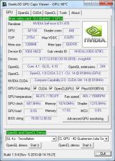 Скриншот 1 из 10 программы GPU Caps Viewer