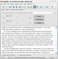 Скриншот 1 из 2 программы Balabolka
