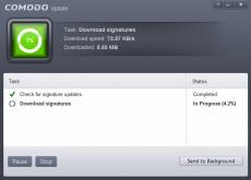 Скриншот 1 из 1 программы Comodo AntiVirus