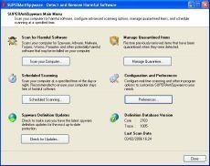 Скриншот 1 из 1 программы SUPERAntiSpyware