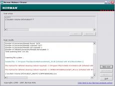 Скриншот 1 из 1 программы Norman Malware Cleaner