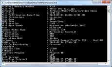 Скриншот 1 из 1 программы ExifTool