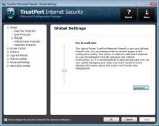 Скриншот 1 из 4 программы TrustPort Internet Security