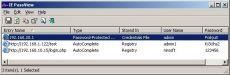 Скриншот 1 из 1 программы IE PassView