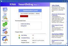 Скриншот 1 из 6 программы IObit SmartDefrag