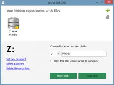 Скриншот 1 из 3 программы Secret Disk