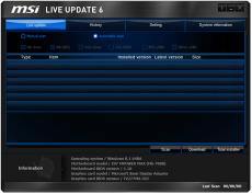 Скриншот 1 из 4 программы MSI LiveUpdate