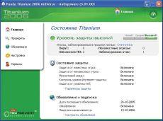Скриншот 1 из 1 программы Panda Titanium 2006