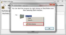 Скриншот 1 из 4 программы IObit Unlocker