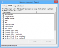 Скриншот 2 из 3 программы Malwarebytes Anti-Exploit