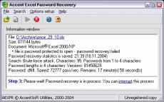 Скриншот 2 из 2 программы Accent Office Password Recovery