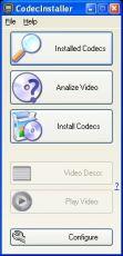Скриншот 1 из 2 программы CodecInstaller