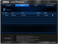Скриншот 4 из 4 программы MSI LiveUpdate